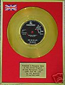 "THE BEATLES  7""  24 Carat Gold Disc  -  CANT BUY ME LOVE"